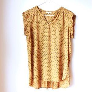 • the pleione flower pattern blouse